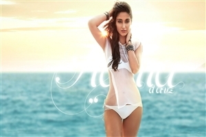 Ileana DCruz in White Hot Wallpaper