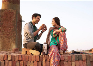 Nushrat Bharucha with Rajkummar Rao in Film Chhalaang