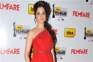 Tamannaah Bhatia in Red Dress Photo