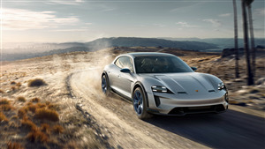 4K Wallpaper of 2019 Porsche Mission E Car