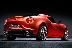 Alfa Romeo Red Car Wallpaper
