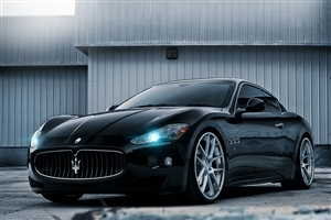 Black Maserati Car HD Wallpaper