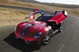 Devon GTX Red Car on Road HD Wallpaper