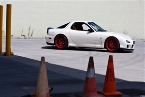 Mazda RX7 White Car Wallpaper