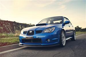 Subaru Impreza WRX Blue Free Car Wallpapers