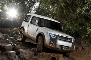 White Land Rover Car Wallpaper