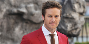 Generous Look of Actor Armie Hammer in Res Suit