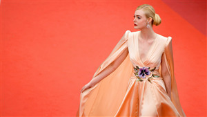 4K Wallpaper of Cannes Film Festival Elle Fanning American Actress