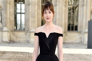American Heroine Dakota Johnson in Black Dress Image