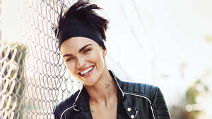 Cute Smile of Ruby Rose and with Tattoo Photo