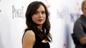 Ellen Page in Red Lips 2018 Wallpaper