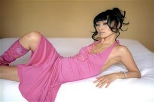 Hot American Actress Bai Ling in Pink
