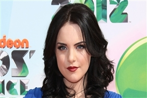 Hot Look of Elizabeth Gillies American Celebrity in Red Lips Wallpaper