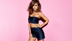 Jessica Alba in Blue Wallpaper