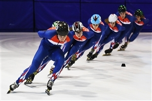 Speed Skating Olympic HD Wallpaper