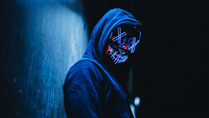 5K Wallpaper of Purge LED Mask