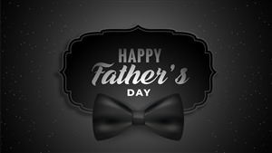 Happy Fathers Day Black Background 5K Photo