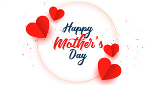 Happy Mothers Day Wallpaper With Heart Bubble
