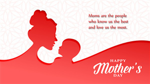 Happy Mothers Day with Quote 5K Wallpaper