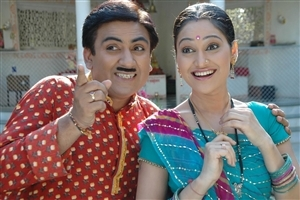 Jethalal and Daya in Tarak Mehta ka Oolta Chasma Hindi TV Serial Wallpaper