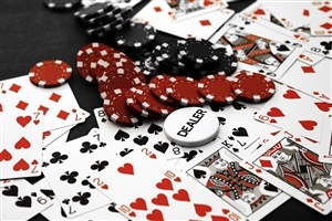 Plying Cards and Poker Chips Photo
