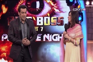Salman Khan and Anita Advanis in Bigg Boss Season 7 TV Show Wallpapers