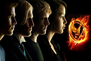 The Hunger Games Star Characters Wallpaper
