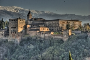 Alhambra Palace in Granada Spain Tourist Place Wallpaper