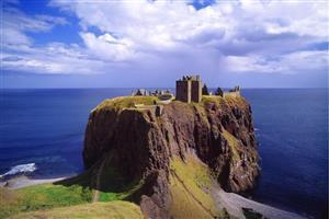 Beautiful Dunnottar Castle in Scotland Image