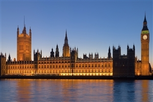 Popular Palace of Westminster in UK