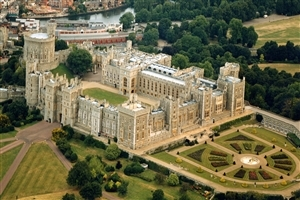 Royal Residence Windsor Castle in UK