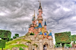 Sleeping Beauty Castle of Disneyland Park in Anaheim United States Wallpaper
