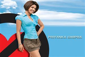 Priyanka Chopra in Sky Color Top