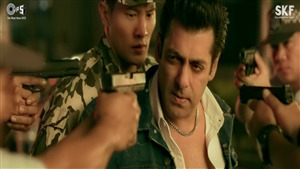 Actor Salman Khan Around Commando in Race 3