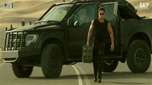 Race 3 Star Salman Khan in Black Commando Dress
