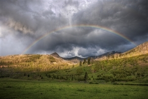 Amazing Beautiful Rainbow Nature HD Wallpaper
