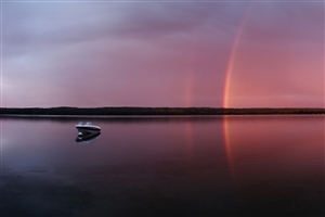 Beautiful Dual Rainbow HD Photo