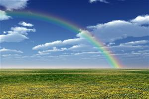 Beautiful Natural Rainbow Wallpaper