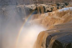 Beautiful Rainbow on Waterfalls