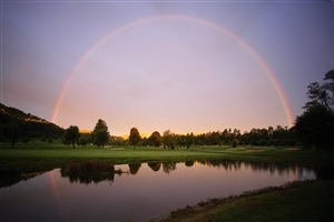 Beautiful Round Rainbow Nature Wallpaper of Australia