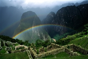 Rainbow on Mountain HD Image