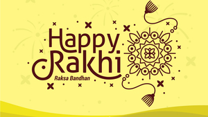 Happy Rakhi Desktop Background Image