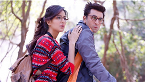 Actress Katrina Kaif with Ranbir Kapoor in Jagga Jasoos Movie 4K Wallpaper