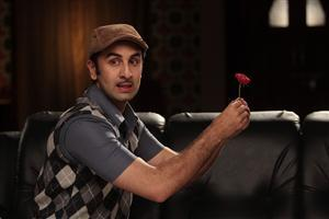 Rose in Hand of Ranbir Kapoor in Movie Barfi