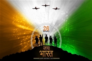 26 January Happy Indian Republic Day Nice Wallpapers