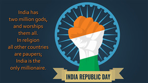 India Republic Day Greeting Wish HD Wallpaper