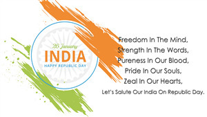 New Wallpaper of India Republic Day Greetings