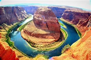 Beautiful Horseshoe Bend of Colorado River in Arizona United States Photo