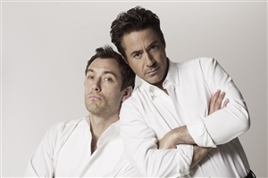Robert Downey in White Cloth Photo