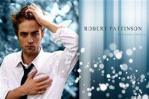Smart Look of Robert Pattison in White Shirt